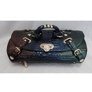 Versace Multicolor Ombre Python Canyon Satchel Bag